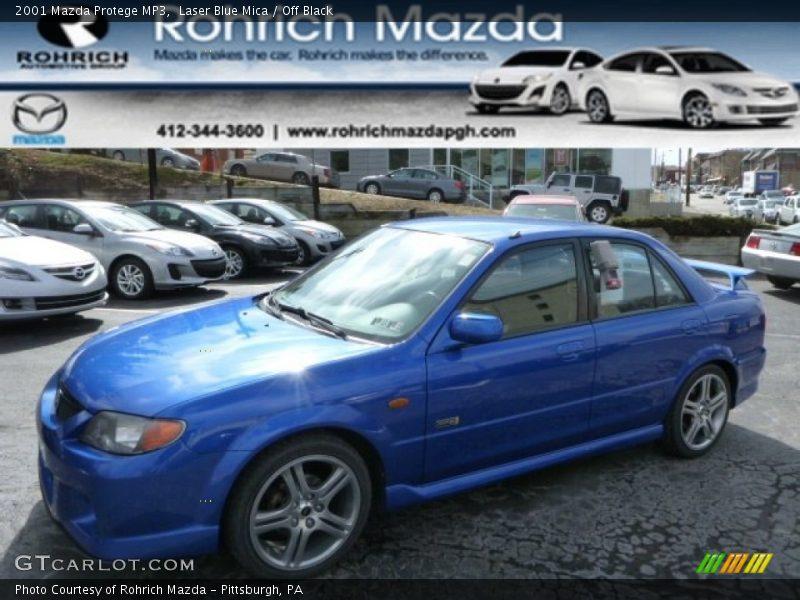 Laser Blue Mica / Off Black 2001 Mazda Protege MP3