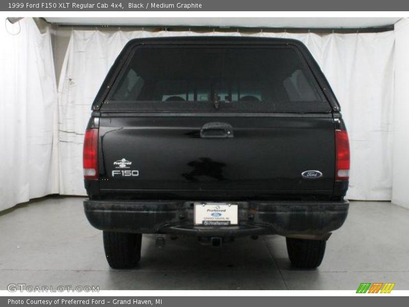 Black / Medium Graphite 1999 Ford F150 XLT Regular Cab 4x4