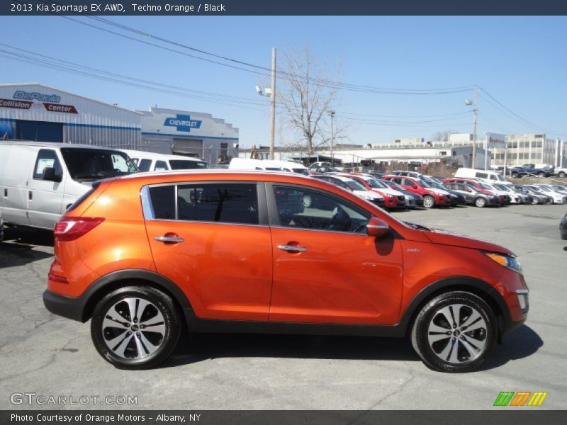 Techno Orange / Black 2013 Kia Sportage EX AWD