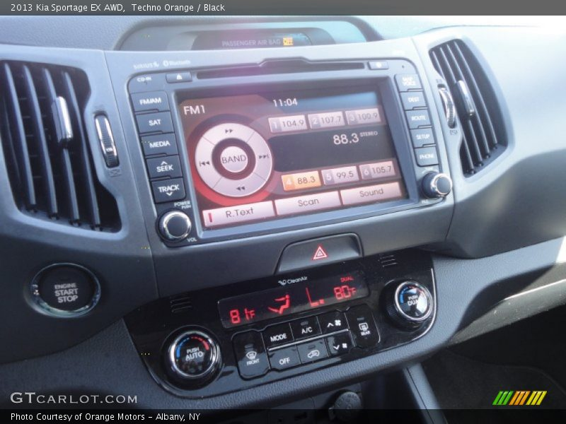 Techno Orange / Black 2013 Kia Sportage EX AWD