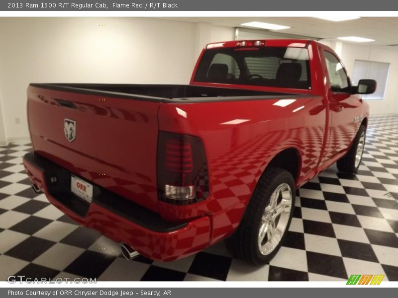 Flame Red / R/T Black 2013 Ram 1500 R/T Regular Cab