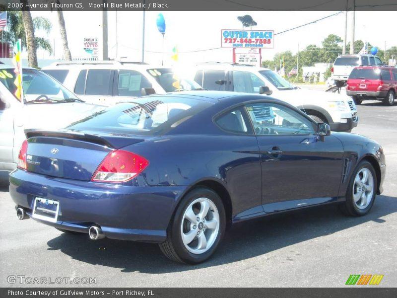 2006 Hyundai Tiburon Gs In Moonlit Blue Metallic Photo No