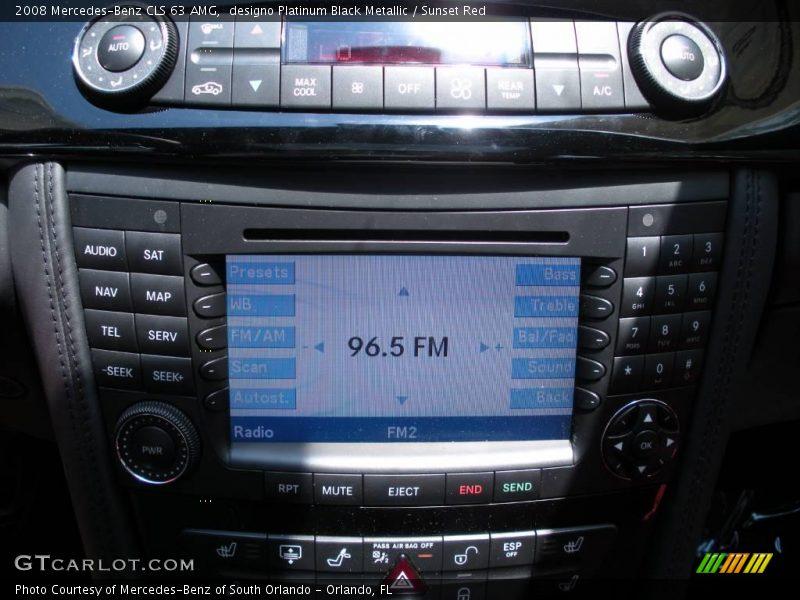 designo Platinum Black Metallic / Sunset Red 2008 Mercedes-Benz CLS 63 AMG