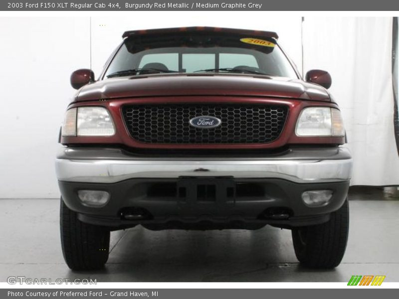 Burgundy Red Metallic / Medium Graphite Grey 2003 Ford F150 XLT Regular Cab 4x4