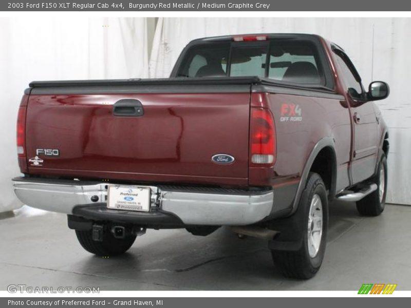 Burgundy Red Metallic / Medium Graphite Grey 2003 Ford F150 XLT Regular Cab 4x4