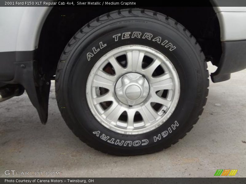 Silver Metallic / Medium Graphite 2001 Ford F150 XLT Regular Cab 4x4