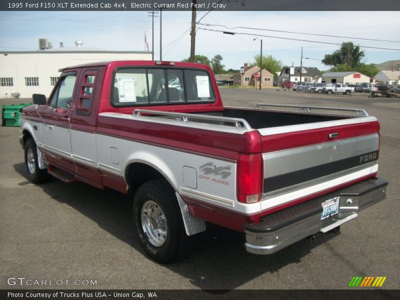 1995 ford f150 xlt extended cab 4x4 in electric currant red pearl photo no 81030884. Black Bedroom Furniture Sets. Home Design Ideas
