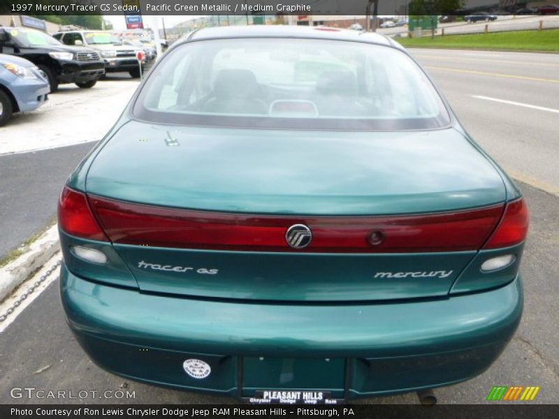 Pacific Green Metallic / Medium Graphite 1997 Mercury Tracer GS Sedan