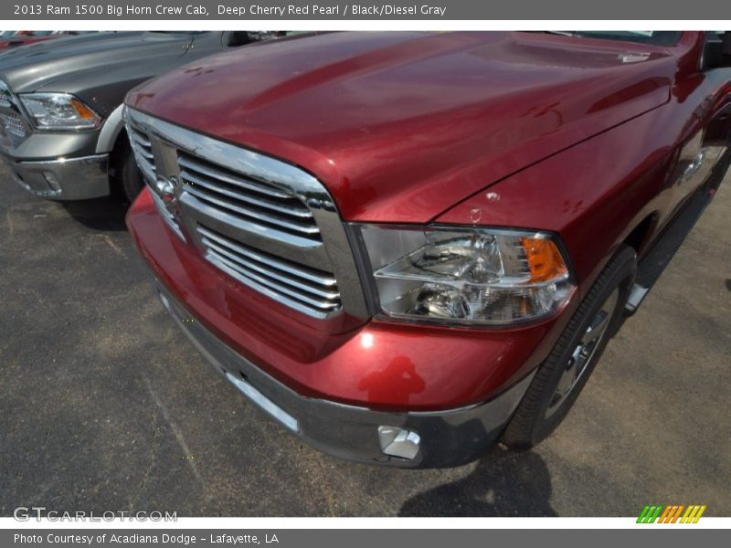 Deep Cherry Red Pearl / Black/Diesel Gray 2013 Ram 1500 Big Horn Crew Cab