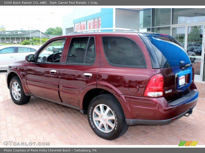 Dark Garnet Red Metallic / Gray 2006 Buick Rainier CXL AWD