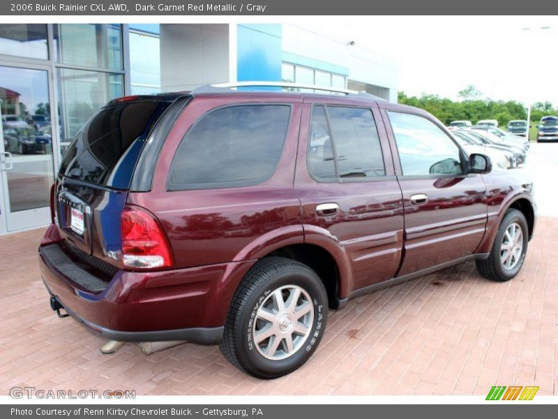 Dark Garnet Red Metallic / Gray 2006 Buick Rainier CXL AWD