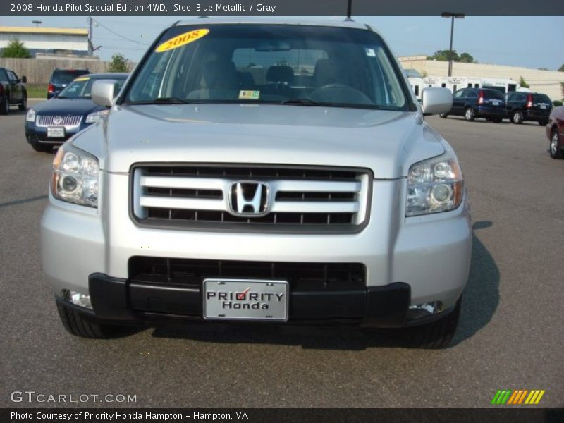 Steel Blue Metallic / Gray 2008 Honda Pilot Special Edition 4WD