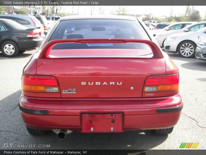 2000 subaru impreza 2 5 rs coupe in sedona red pearl photo. Black Bedroom Furniture Sets. Home Design Ideas