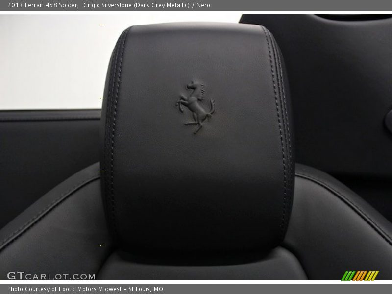 Prancing Horse headrest - 2013 Ferrari 458 Spider