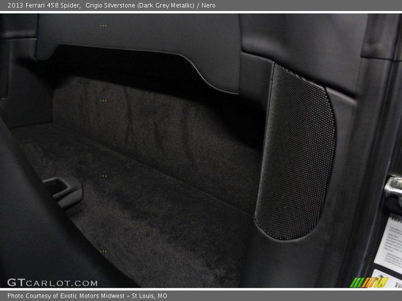 Grigio Silverstone (Dark Grey Metallic) / Nero 2013 Ferrari 458 Spider