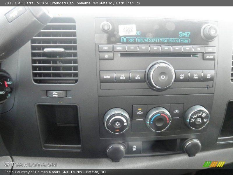 Sonoma Red Metallic / Dark Titanium 2013 GMC Sierra 1500 SL Extended Cab