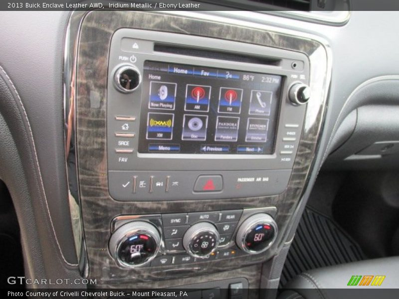 Controls of 2013 Enclave Leather AWD