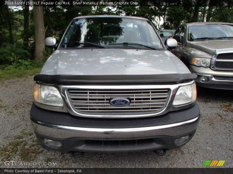 Silver Metallic / Medium Graphite Grey 2003 Ford F150 XLT Regular Cab 4x4