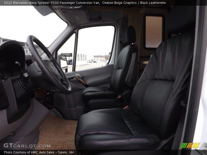 Citation Beige Graphics / Black Leatherette 2013 Mercedes-Benz Sprinter 3500 Passenger Conversion Van