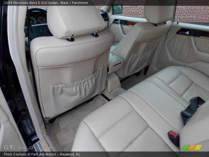 Rear Seat of 1994 E 420 Sedan