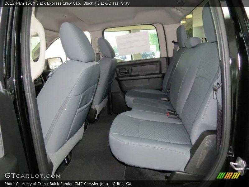 Rear Seat of 2013 1500 Black Express Crew Cab
