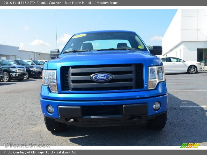 Blue Flame Metallic / Medium Stone 2010 Ford F150 STX Regular Cab 4x4