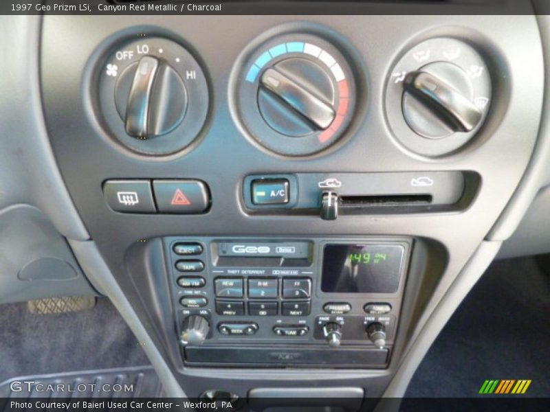 Controls of 1997 Prizm LSi