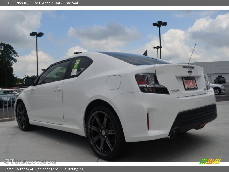Super White / Dark Charcoal 2014 Scion tC