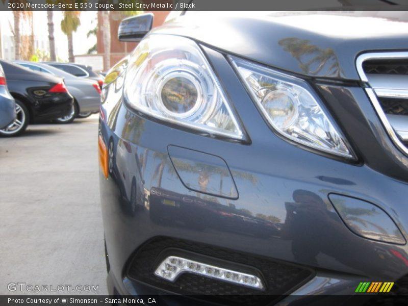 Steel Grey Metallic / Black 2010 Mercedes-Benz E 550 Coupe