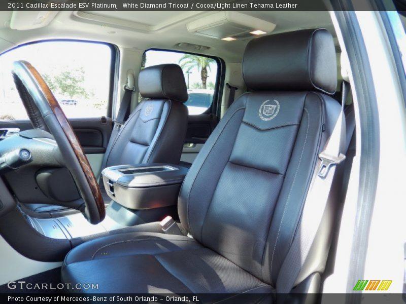Front Seat of 2011 Escalade ESV Platinum