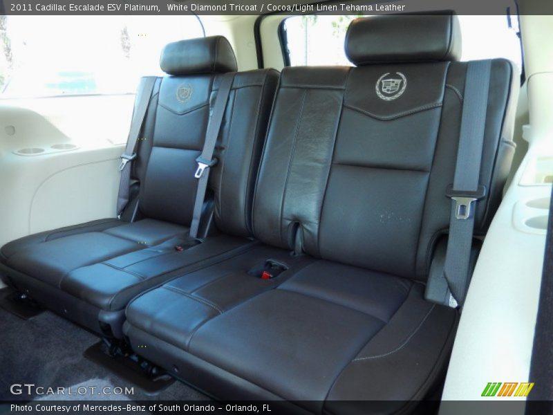 Rear Seat of 2011 Escalade ESV Platinum