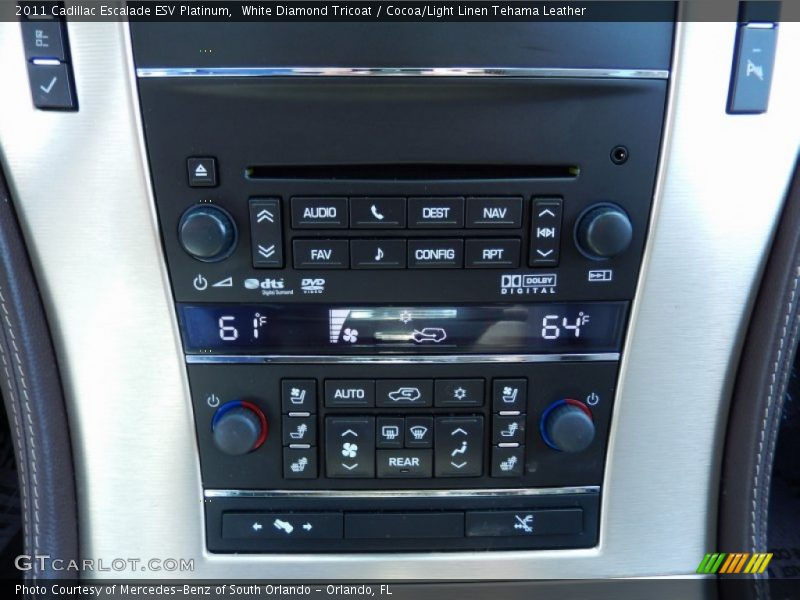 Controls of 2011 Escalade ESV Platinum