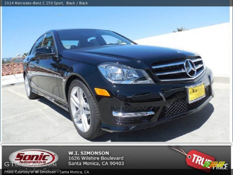 Black / Black 2014 Mercedes-Benz C 250 Sport