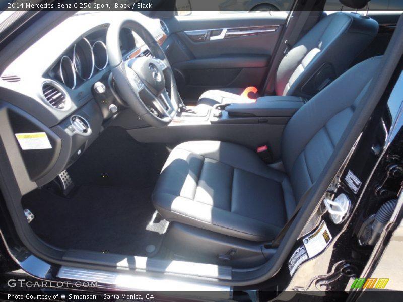 Black / Black 2014 Mercedes-Benz C 250 Sport
