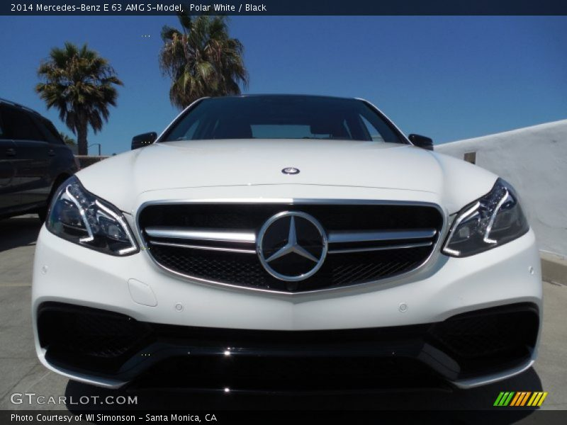 2014 mercedes benz e 63 amg s model in polar white photo for Mercedes benz polar white paint