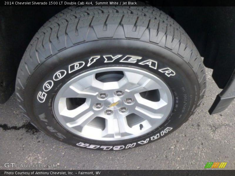 Summit White / Jet Black 2014 Chevrolet Silverado 1500 LT Double Cab 4x4