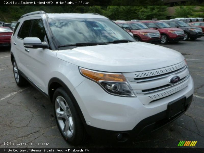 2014 ford explorer limited 4wd in white platinum photo no 85293630. Cars Review. Best American Auto & Cars Review