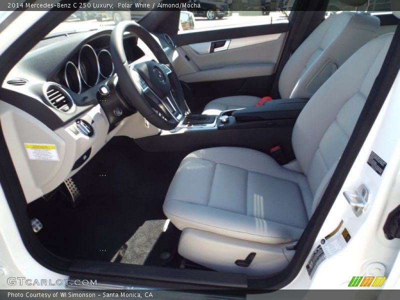 Polar White / Almond/Mocha 2014 Mercedes-Benz C 250 Luxury