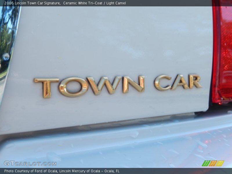 Ceramic White Tri-Coat / Light Camel 2006 Lincoln Town Car Signature