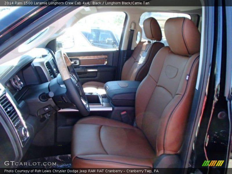 Front Seat of 2014 1500 Laramie Longhorn Crew Cab 4x4
