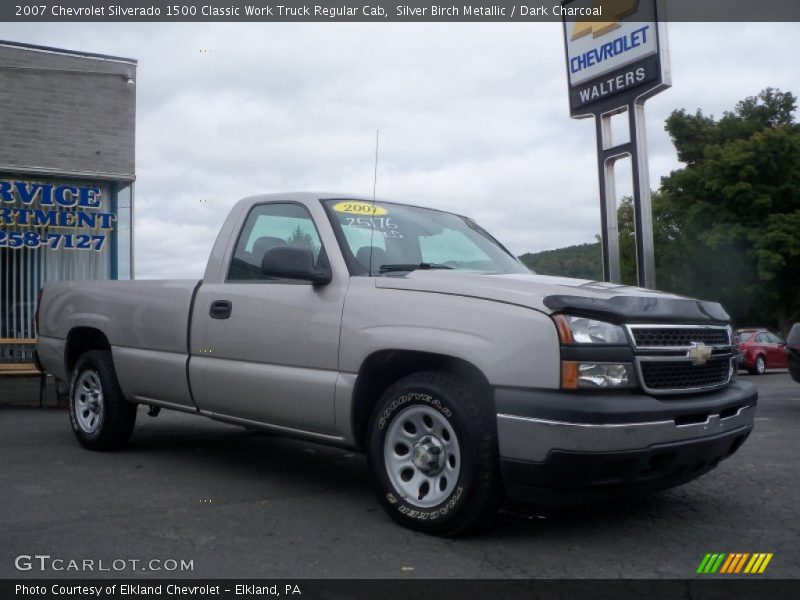 Silver Birch Metallic / Dark Charcoal 2007 Chevrolet Silverado 1500 Classic Work Truck Regular Cab