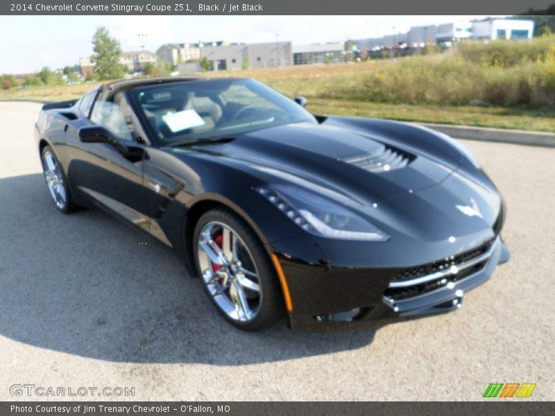 black jet black 2014 chevrolet corvette stingray coupe z51 photo 1. Cars Review. Best American Auto & Cars Review