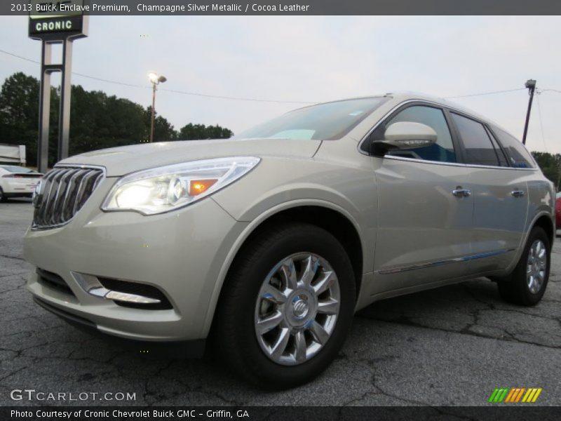 Champagne Silver Metallic / Cocoa Leather 2013 Buick Enclave Premium
