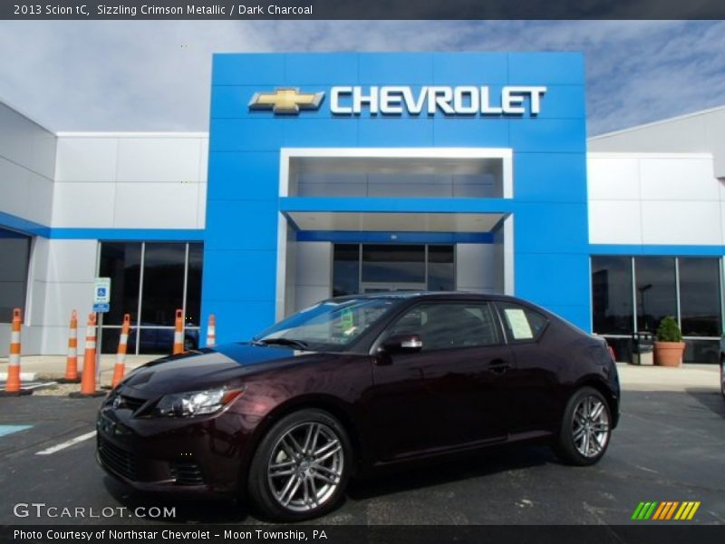 Sizzling Crimson Metallic / Dark Charcoal 2013 Scion tC