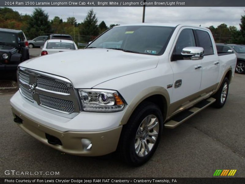 Bright White / Longhorn Canyon Brown/Light Frost 2014 Ram 1500 Laramie Longhorn Crew Cab 4x4