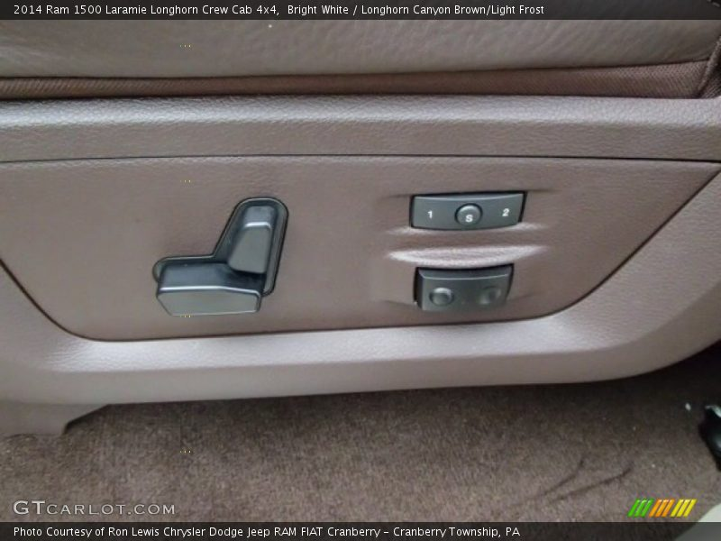 Bright White / Longhorn Canyon Brown/Light Frost 2014 Ram 1500 Laramie Longhorn Crew Cab 4x4