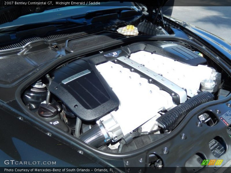 2007 Continental GT  Engine - 6.0L Twin-Turbocharged DOHC 48V VVT W12