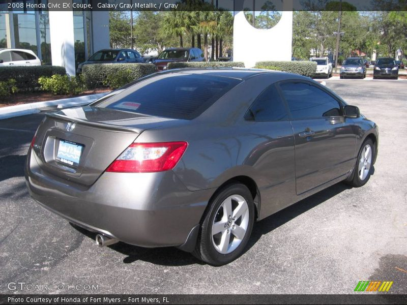 2008 honda civic ex coupe in galaxy gray metallic photo no 867869. Black Bedroom Furniture Sets. Home Design Ideas