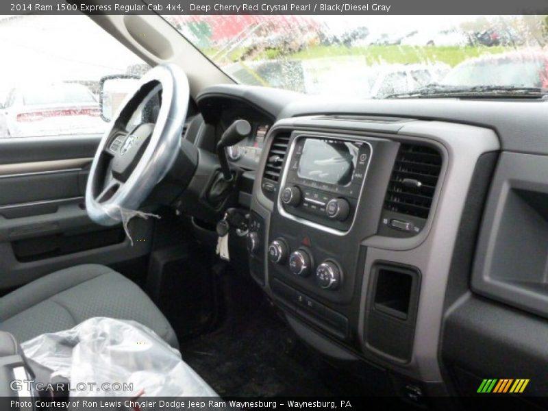 Deep Cherry Red Crystal Pearl / Black/Diesel Gray 2014 Ram 1500 Express Regular Cab 4x4