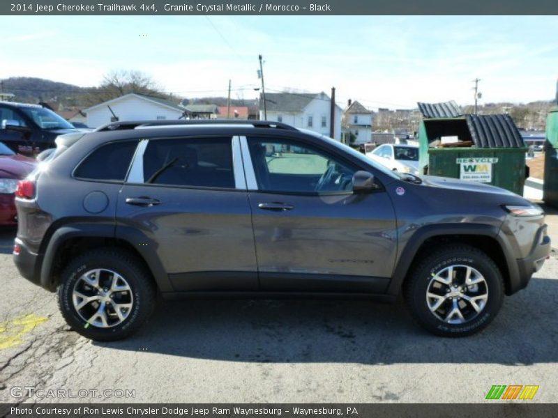 Granite Crystal Metallic / Morocco - Black 2014 Jeep Cherokee Trailhawk 4x4